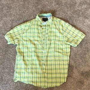 Green Button down